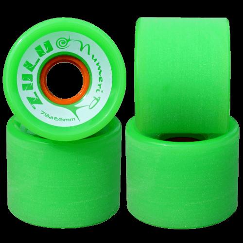 スケートボード各パーツ情報 お勧めウィール ズールーウィール ヌメリップ 78A 65mm グリーン