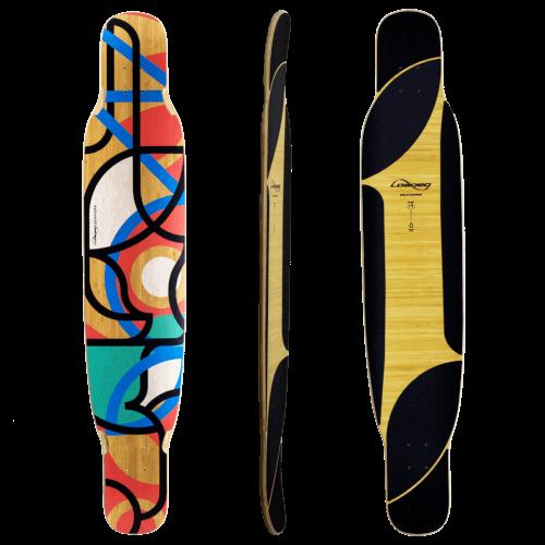 スケートボード各パーツ情報 お勧めデッキ(Deck)ローデッドロングボード バングラ フリースタイル