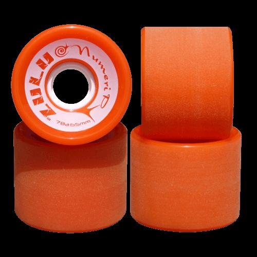 スケートボード各パーツ情報 お勧めウィール ズールーウィール ヌメリップ 78A 65mm オレンジ
