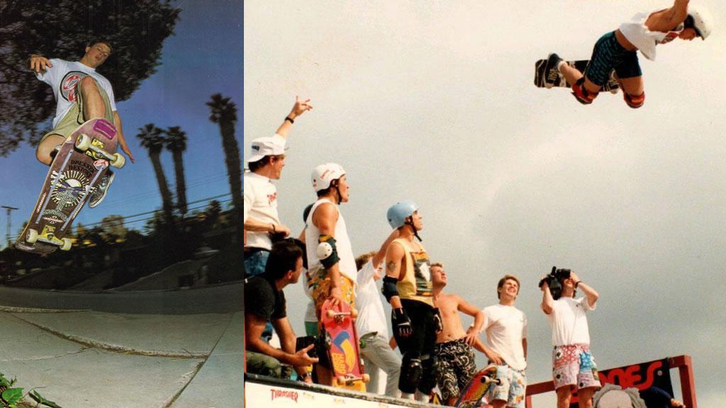 80年代のスケートボード界はオールドスクールのパウエル全盛期。オーリーやトリックのストリートへ発展