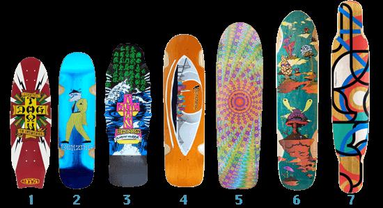 スケートボード スケボー各パーツ情報 Deckデッキについて クルーザー、オールドスクール、ロンスケ